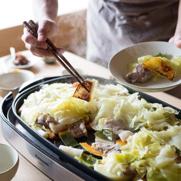 photo:野菜たっぷり石見ポークの鉄板焼き